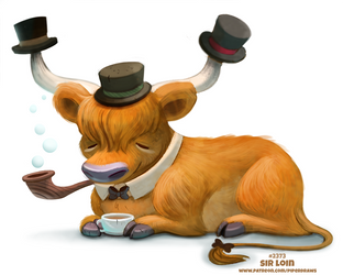Daily Paint 2373. Sir Loin by Cryptid-Creations