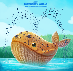 Daily Paint 2374. Blueberry Whale by Cryptid-Creations