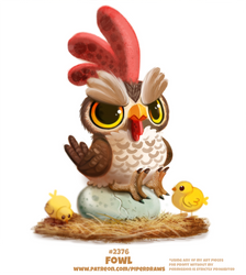 Daily Paint 2376. Fowl by Cryptid-Creations