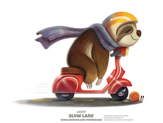 Daily Paint 2377. Slow Lane by Cryptid-Creations