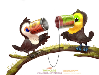 Daily Paint 2378. Two Cans by Cryptid-Creations