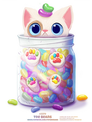Daily Paint 2379. Toe Beans by Cryptid-Creations