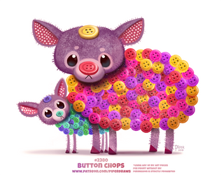 Daily Paint 2380. Button Chops by Cryptid-Creations