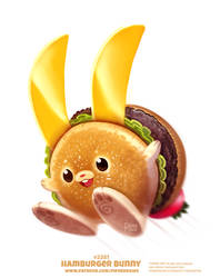 Daily Paint 2382. Hamburger Bunny by Cryptid-Creations
