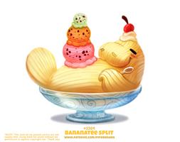Daily Paint 2384. Bananatee Split
