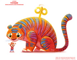Daily Paint 2386. Toyger by Cryptid-Creations
