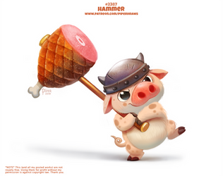 Daily Paint 2387. Hammer by Cryptid-Creations