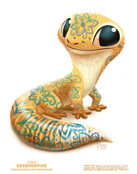 Daily Paint 2390. Geckorative