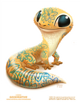 Daily Paint 2390. Geckorative by Cryptid-Creations