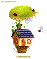 Daily Paint 2391. Venus House Plant