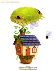 Daily Paint 2391. Venus House Plant by Cryptid-Creations