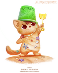 Daily Paint 2392. Buckit of Sand by Cryptid-Creations
