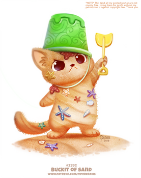 Daily Paint 2392. Buckit of Sand