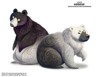 Daily Paint 2393. Ombear by Cryptid-Creations