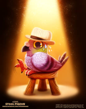 Daily Paint 2395. Stool Pigeon