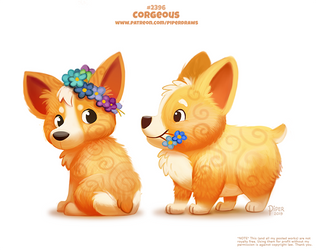 Daily Paint 2396. Corgeous by Cryptid-Creations