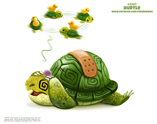 Daily Paint 2397. Hurtle by Cryptid-Creations