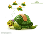 Daily Paint 2397. Hurtle