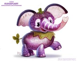 Daily Paint 2398. Eleggplant