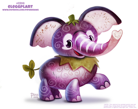 Daily Paint 2398. Eleggplant by Cryptid-Creations
