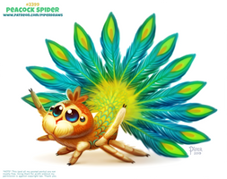 Daily Paint 2399. Peacock Spider