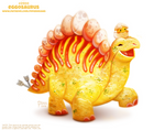 Daily Paint 2400. Eggosaurus