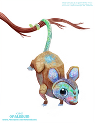 Daily Paint 2401. Opalssum by Cryptid-Creations