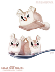 Daily Paint 2402. Sugar Cube Gliders by Cryptid-Creations