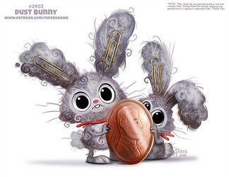 Daily Paint 2403. Dust Bunny by Cryptid-Creations