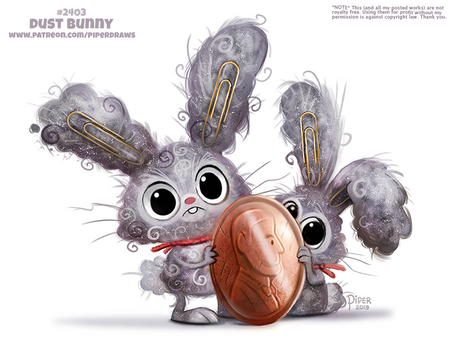 Daily Paint 2403. Dust Bunny
