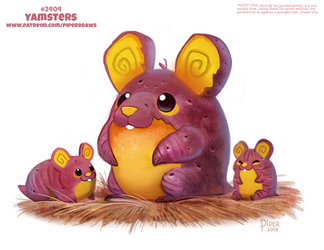 Daily Paint 2404. Yamsters by Cryptid-Creations