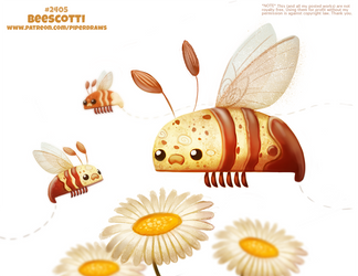 Daily Paint 2405. Beescotti by Cryptid-Creations