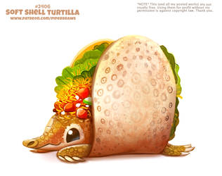 Daily Paint 2406. Soft Shell Turtilla by Cryptid-Creations