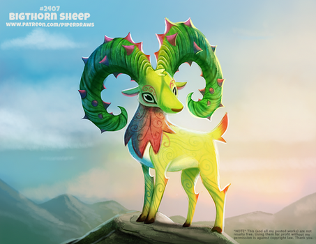 Daily Paint 2407. Bigthorned Sheep