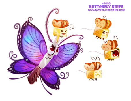Daily Paint 2409. Butterfly Knife