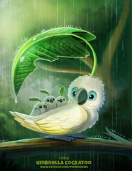 Daily Paint 2410. Umbrella Cockatoo by Cryptid-Creations