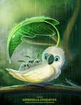 Daily Paint 2410. Umbrella Cockatoo