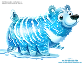 Daily Paint 2412. Water Bear by Cryptid-Creations