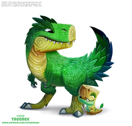 Daily Paint 2413. Tree Rex by Cryptid-Creations