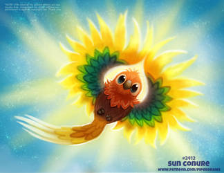 Daily Paint 2414. Sun Conure by Cryptid-Creations