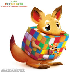 Daily Paint 2415. Roobix Cube