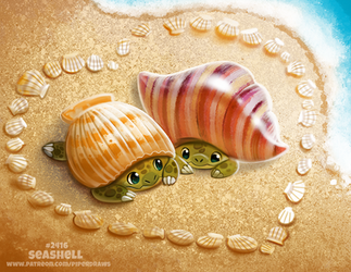 Daily Paint 2416. Seashell by Cryptid-Creations