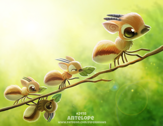 Daily Paint 2418. Antelope by Cryptid-Creations