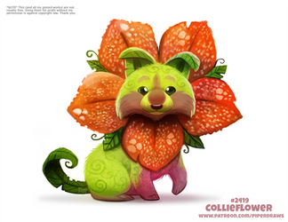 Daily Paint 2419. Collieflower