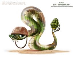 Daily Paint 2420. Battlesnake