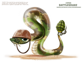 Daily Paint 2420. Battlesnake by Cryptid-Creations