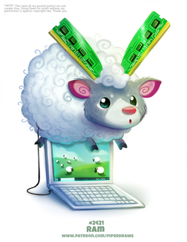 Daily Paint 2421. RAM