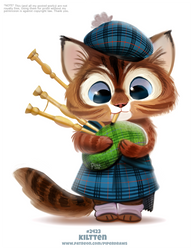 Daily Paint 2424. Kiltten by Cryptid-Creations