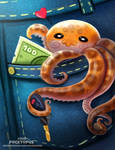 Daily Paint 2425. Pocktopus by Cryptid-Creations