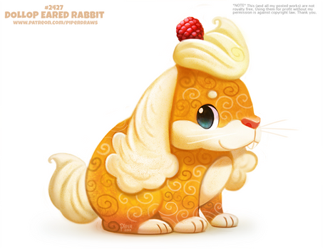 Daily Paint 2427. Dollop Eared Rabbit